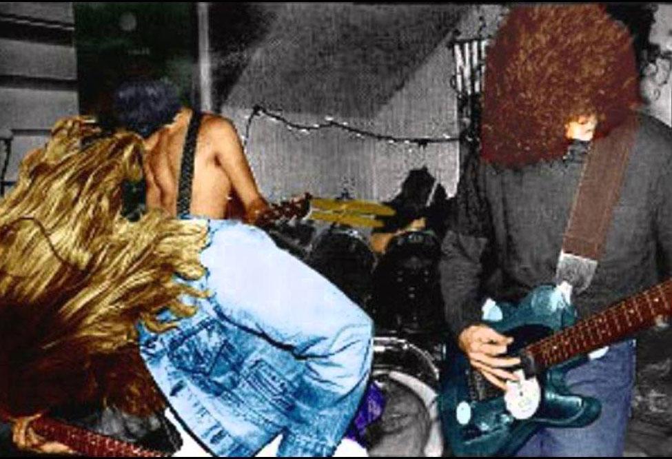 Foto original untuk sampul album Bleach