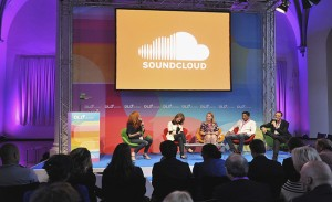 MUNICH, GERMANY - JUNE 30:  (L-R) Caroline Drucker of Soundcloud,Katie McMohan of SoundHound, Kathryn Moreadith of UJAM, Shakil Khan of Spotify and DLD founder Marcel Reichart attend the Digital Life Design women conference (DLDwomen) at Bavarian National Museum on June 30, 2011 in Munich, Germany. The conference features discussions, case studies and lectures and brings together an extraordinary group of international high-profile speakers and more than 500 participants from business, media, technology, society, health, education, politics and science.  (Photo by Sascha Baumann/Getty Images)