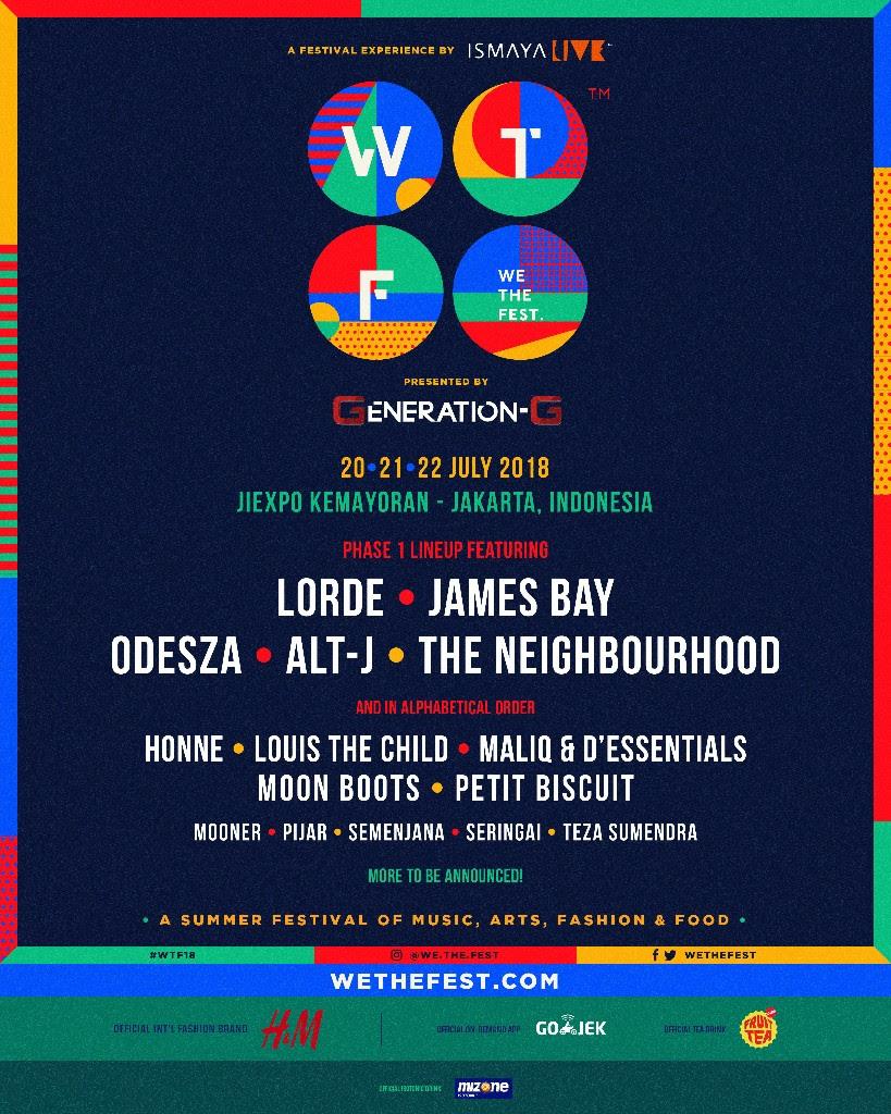Tabrakan Genre di We The Fest 2018