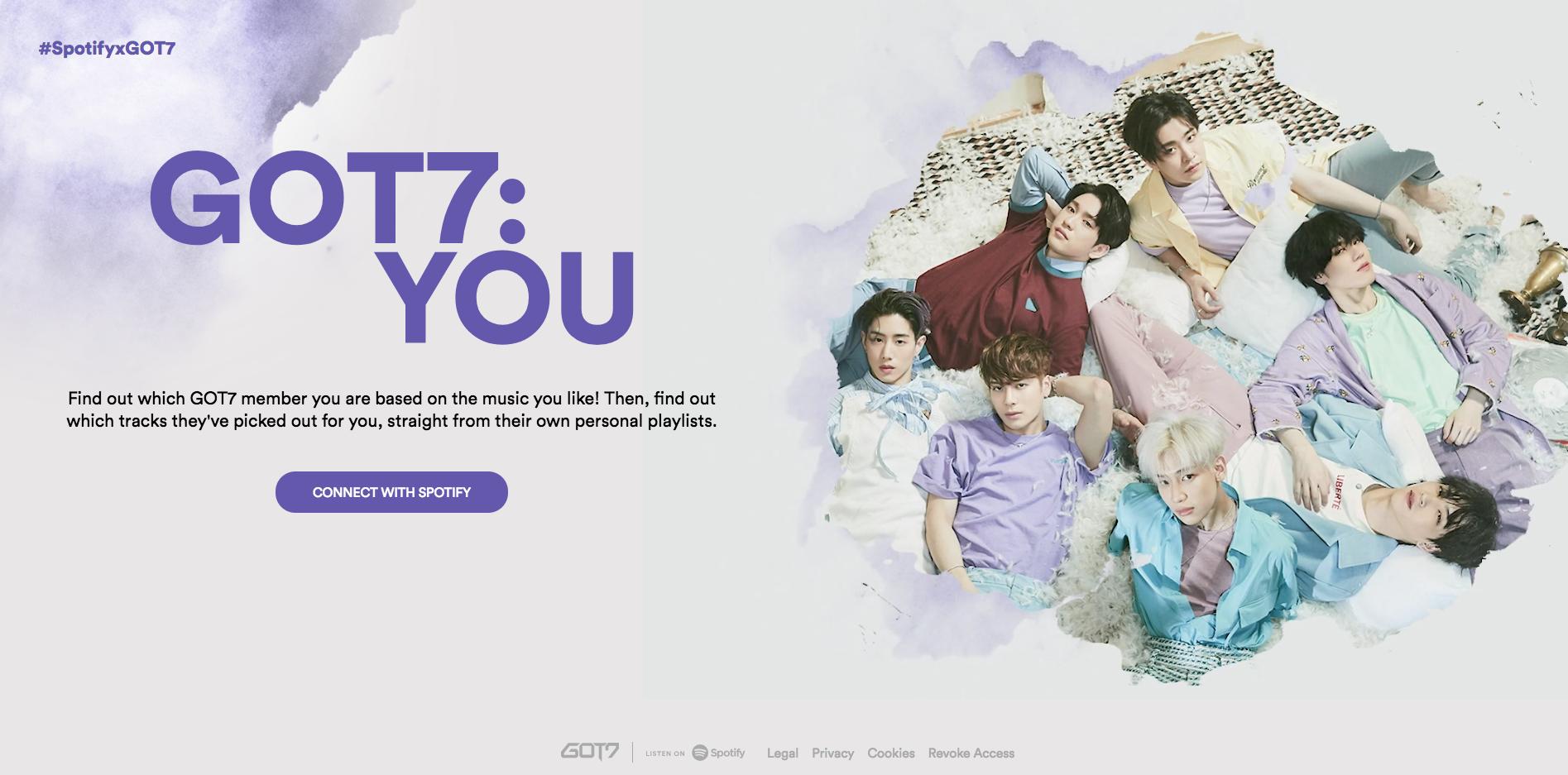Temukan Anggota GOT7 yang Cocok lewat Spotify