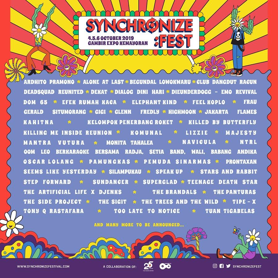 Invasi Band Emo di Synchronize Festival 2019